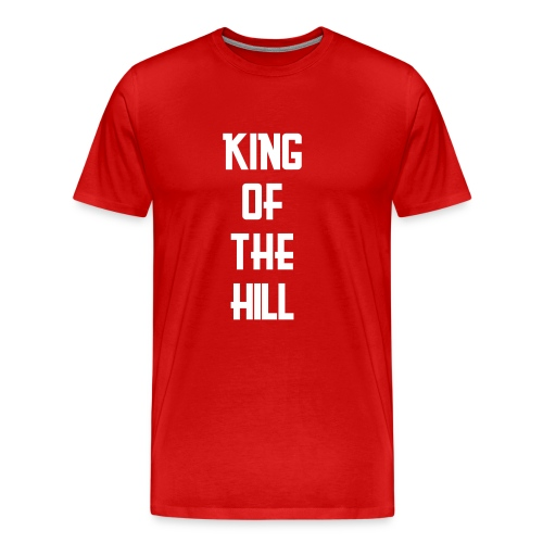 King of the Hill (on red) - Men's Premium T-Shirt