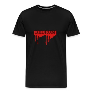 REDRUM in Blood Heavyweight Cotton T-shirt in Black - Men's Premium T-Shirt