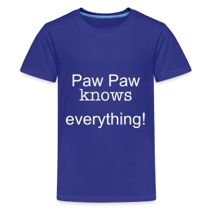 Paw Paw knows everything! T-shirt in Blue - Kids' Premium T-Shirt