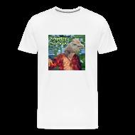 T-Shirts ~ Men's Premium T-Shirt ~ Zombie Chicken Heavyweight Tee White