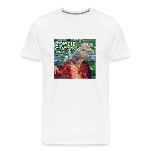 Zombie Chicken Heavyweight Tee White - Men's Premium T-Shirt