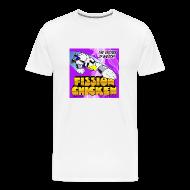T-Shirts ~ Men's Premium T-Shirt ~ Fission Chicken Heavyweight Tee (White)