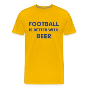 Football & Beer Yellow - Men's Premium T-Shirt