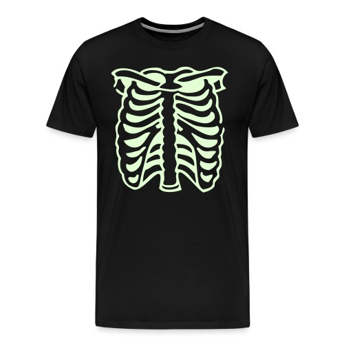 Glow in the Dark Skeleton - Halloween - Men's Premium T-Shirt