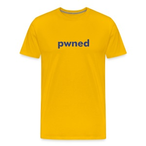 pwned yellow - Men's Premium T-Shirt