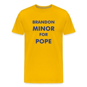 Minor For Pope Yellow - Men's Premium T-Shirt