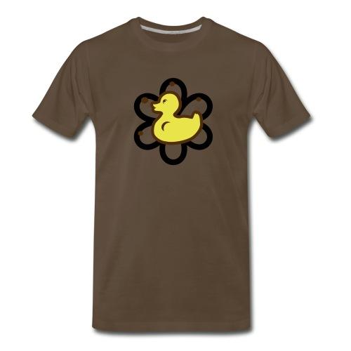 atomic duckie - brown - Men's Premium T-Shirt