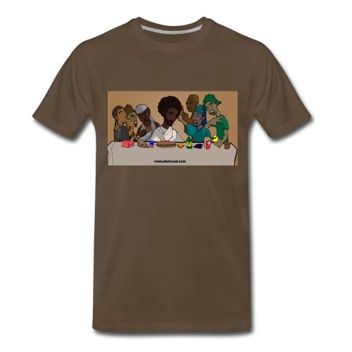 Last Supper Brown - Men's Premium T-Shirt