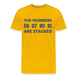 Stacked D-Line Yellow - Men's Premium T-Shirt