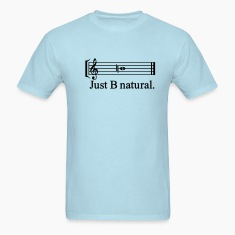 Sky blue justbnatural_outline T-Shirts