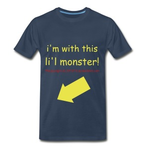 DADS XXXL=i'm with this li'l monster-TM,COPYRIGHT,ALL RIGHTS RESERVED - Men's Premium T-Shirt