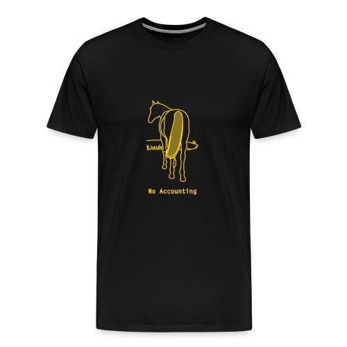 No Accounting - Men's Premium T-Shirt