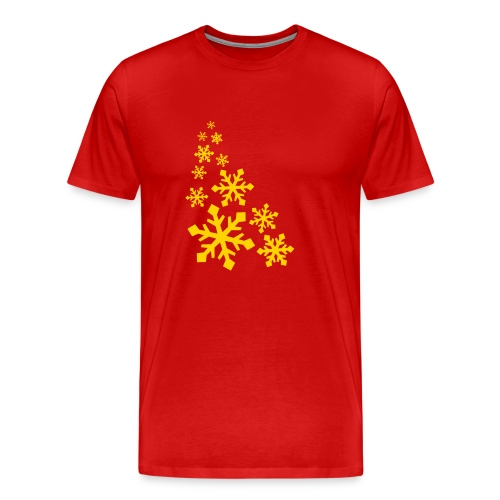 Mens XXXL T-Sirt W/Orange Snowflake Logo - Men's Premium T-Shirt