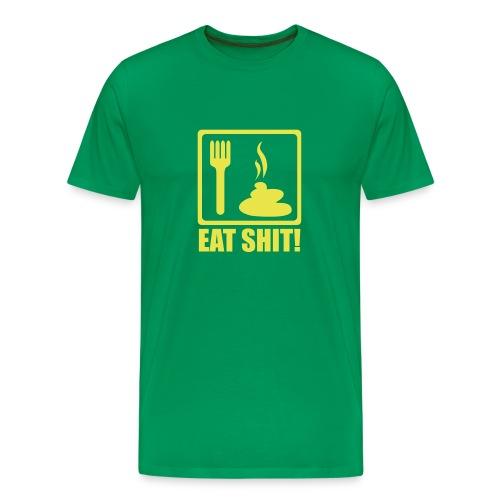 Heavyweight Cotton T-Shirt W/Eat Shit Logo - Men's Premium T-Shirt