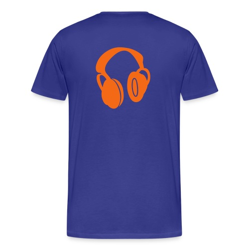 Drop One Step Headphone Tee (Blue) - Men's Premium T-Shirt