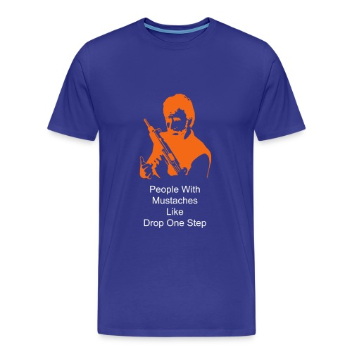 Drop One Step Chuck Norris T - Men's Premium T-Shirt