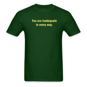 You Are Inadequate - Yellow Print - Men's T-Shirt