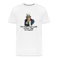 T-Shirts ~ Men's Premium T-Shirt ~ This finger wasn't made to press