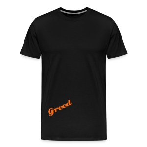 Greed Orange - Men's Premium T-Shirt