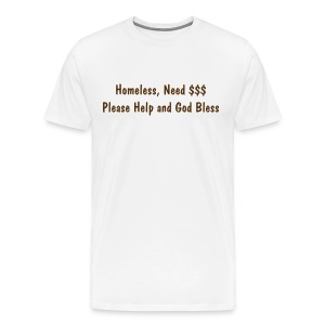 Homeless Shirt - Tan - Men's Premium T-Shirt