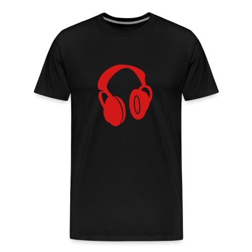 Headphones red - Men's Premium T-Shirt