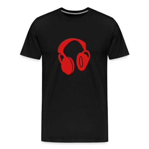 Headphones red - Men's Premium T-Shirt