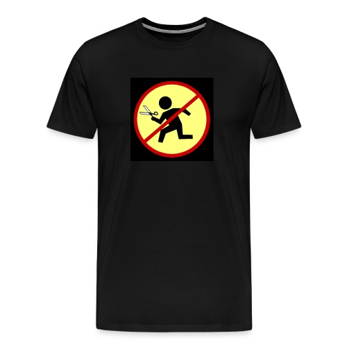Men's Premium T-Shirt - Band Website Printed On Back (Darker Black Around Design Does Not Print)