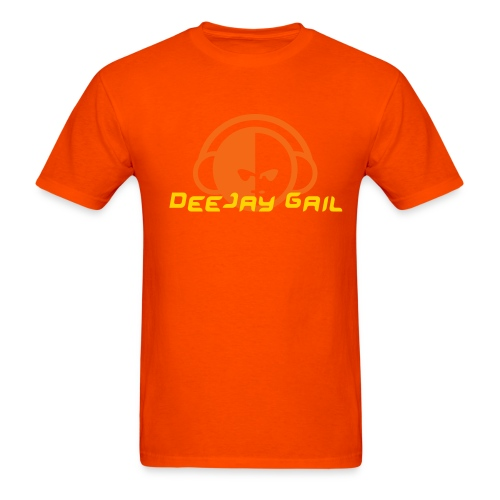 Personalize your DJ Shirt Orange on Orange - Men's T-Shirt