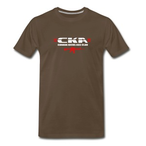 =CKA= Heavy T-Shirt (text on back) - Men's Premium T-Shirt