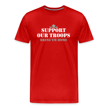 Red support our troops bring them home t shirts t shirt for Red support our troops shirts