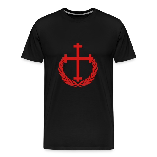New Allegiance red Cross and Crown tee - Men's Premium T-Shirt