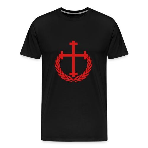 New Allegiance red Cross and Crown tee - Men's Premium T-Shirt