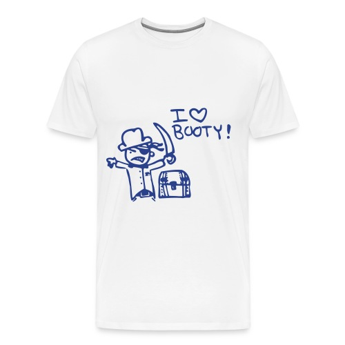 I love Booty Tee - Men's Premium T-Shirt