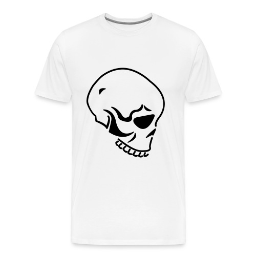 Skull white - Men's Premium T-Shirt