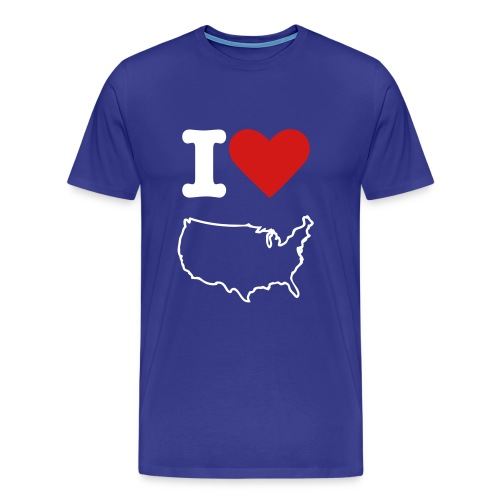 I Love US (p) - Men's Premium T-Shirt