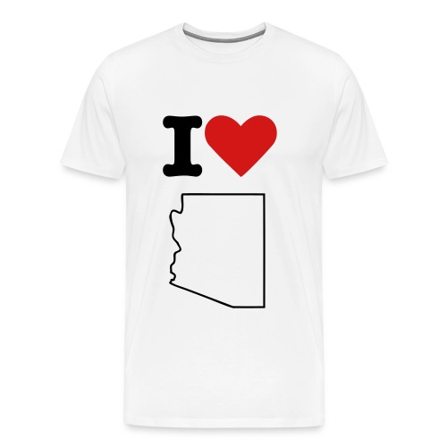 I Love AZ (w) - Men's Premium T-Shirt