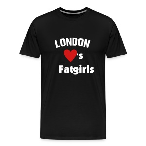London hearts Fat Girls T - Men's Premium T-Shirt