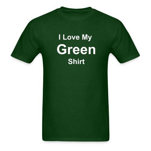 Basic Green Shirt - Men's T-Shirt