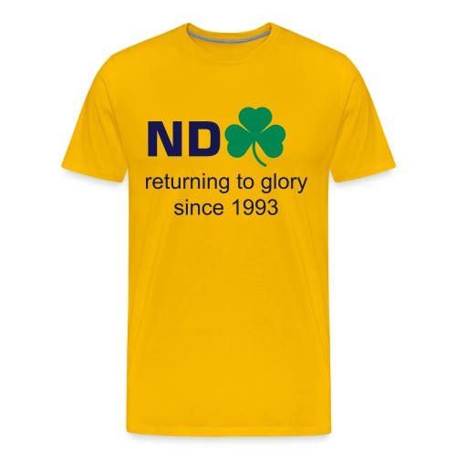 Returning To Glory - Maize - Men's Premium T-Shirt