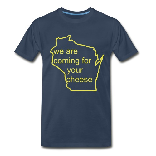 Cheese - Blue - Men's Premium T-Shirt