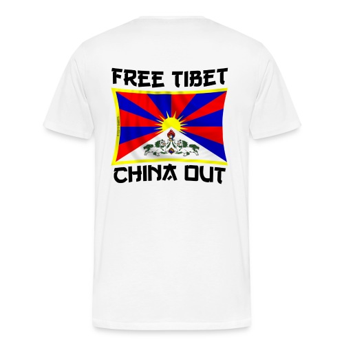 china out Tibet - Men's Premium T-Shirt