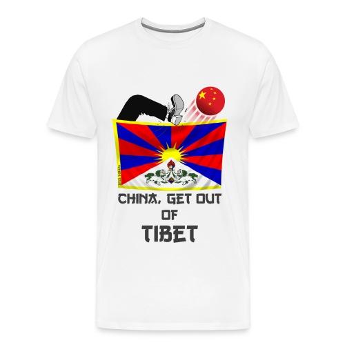 China, get out of Tibet - Men's Premium T-Shirt