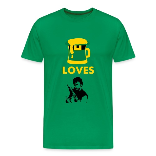 Beer Loves Chuck - Men's Premium T-Shirt