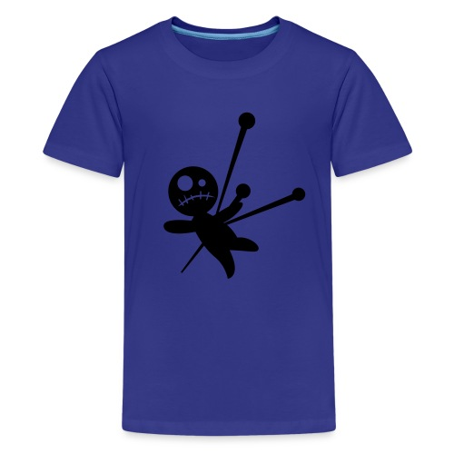 blue T with doll - Kids' Premium T-Shirt