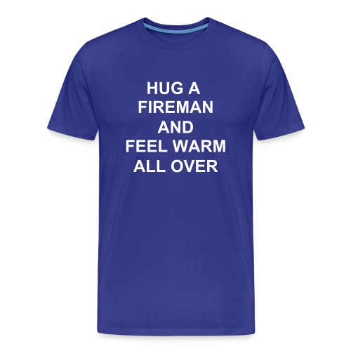 Mens - Hug a Fireman - Men's Premium T-Shirt