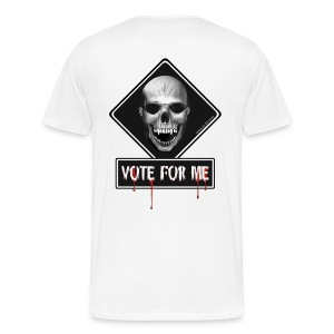 skull vote for me - Men's Premium T-Shirt