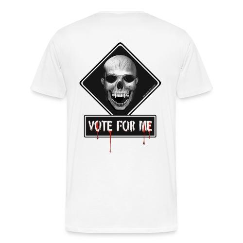 skull vote for me - Men's Premium T-Shirt