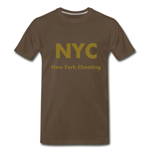 New York Cheating - Men's Premium T-Shirt