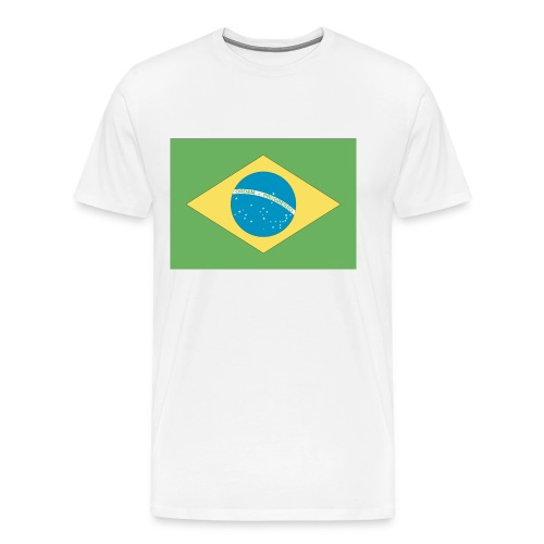 Brazil Flag XXXL T-Shirt - Men's Premium T-Shirt