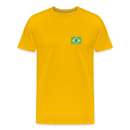 Brazil Flag - Shirt - Men's Premium T-Shirt